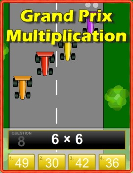 grand prix multiplication game